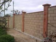Строительство забора из кирпича и блока под ключ. - foto 0